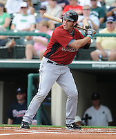 15 March 2009: Lance Berkman of the Houston Astros hits during a game against the Atlanta Braves at the Braves' Spring Training camp at Disney's Wide World of Sports in Lake Buena Vista, Fla. Photo by:  Tom Priddy/Four Seam Images