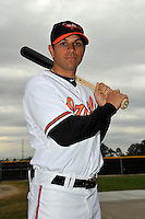 Feb 27, 2010; Tampa, FL, USA; Baltimore Orioles  infielder Brian Roberts (1) during  photoday at Ed Smith Stadium. Mandatory Credit: Tomasso De Rosa