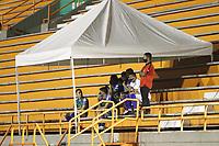 ENVIGADO- COLOMBIA,14-10- 2020:Envigado y Millonarios en partido por la fecha 14 de la Liga BetPlay DIMAYOR I 2020 jugado en el estadio Polideportivo Sur de la ciudad de Envigado. / Envigado and Millonarios in match for the date 14 BetPlay DIMAYOR League I 2020 played at Polideportivo Sur stadium in Envigado city. Photo: VizzorImage / Juan Augusto Cardona  / Contrbuidor