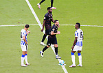 17.10.2020, OLympiastadion, Berlin, GER, DFL, 1.FBL, Hertha BSC VS. VfB Stuttgart, <br /> DFL  regulations prohibit any use of photographs as image sequences and/or quasi-video<br /> im Bild Carneiro da Cunha (Hertha BSC Berlin #10), Jhon Cordoba (Hertha BSC Berlin #15)<br /> <br />       <br /> Foto © nordphoto / Engler