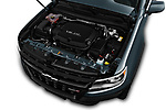 Car stock 2017 Chevrolet Colorado ZR2 Crew 4 Door Pick Up engine high angle detail view
