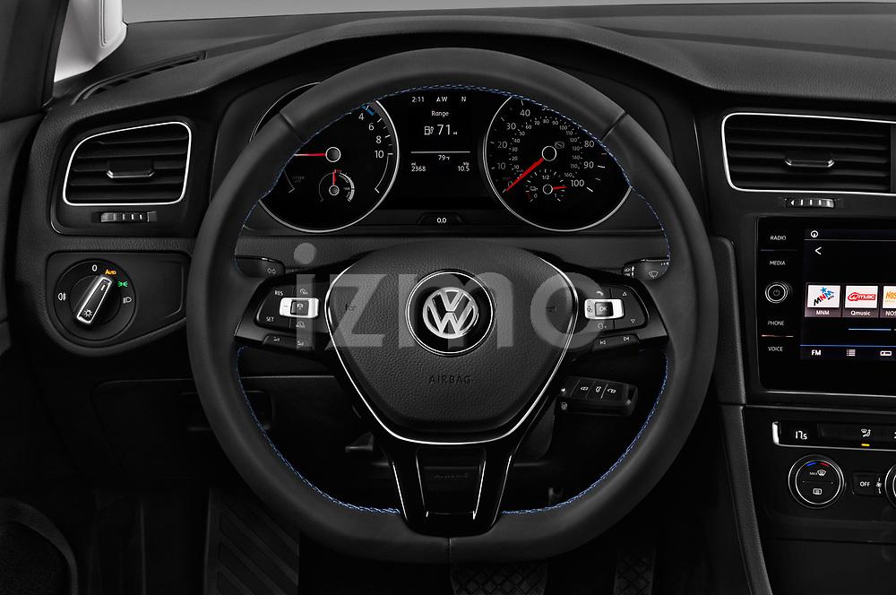 Car pictures of steering wheel view of a 2017 Volkswagen E-Golf SE 5 Door Hatchback