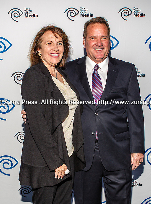 Carole Hart and John McKay at the Time Warner Media Cabletime Upfront media event held at the Private Social Restaurant  in Dallas, Texas.