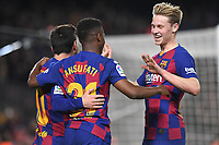 Ansu Fati, Messi, Frankie de Jong<br /> Barcelona 02-02-2020 Camp Nou <br /> Football 2019/2020 La Liga <br /> Barcelona Vs Levante <br /> Photo Paco Larco / Panoramic / Insidefoto <br /> ITALY ONLY