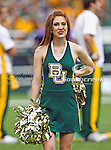 Baylor Bears cheerleaders in action during the game between the Stephen F. Austin Lumberjacks and the Baylor Bears at the Floyd Casey Stadium in Waco, Texas. Baylor defeats SFA 48 to 0.