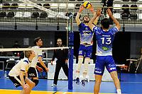 24-03-2021: Volleybal: Amysoft Lycurgus v Sliedrecht Sport: Groningen , setup Lycurgus speler Luke Herr