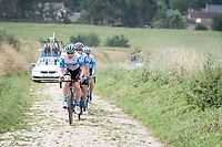 André Greipel (DEU/Israel-StartUp Nation)<br /> <br /> reconnaissance of the (delayed, due to the Covid19 pandemic) Paris-Roubaix course by Team Israel - StartUp Nation <br /> <br /> Nord-Pas de Calais region (FRA), 17 july 2020<br /> ©kramon