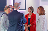 Pictured: Michelle Owen (in red). Thursday 27 September 2018<br /> Re: Swansea City AFC Business Networking event at the Liberty Stadium, Wales, UK.