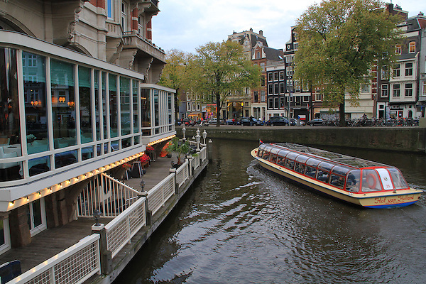 View of our restaurant for lunch in Amsterdam, Netherlands