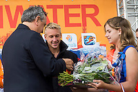 BARELLI Paolo LEN 's President during the medal ceremony<br /> Hoorn, Netherlands <br /> LEN 2016 European Open Water Swimming Championships <br /> Open Water Swimming<br /> Men's 10km<br /> Day 01 10-07-2016<br /> Photo Giorgio Perottino/Deepbluemedia/Insidefoto