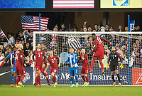 San Jose, Ca - Friday March 24, 2017: Jozy Altidore Tim Howard  during the USA Men's National Team defeat of Honduras 6-0 during their 2018 FIFA World Cup Qualifying Hexagonal match at Avaya Stadium.