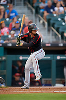 Rochester Red Wings Drew Maggi (5) bats during an International League game against the Buffalo Bisons on August 26, 2019 at Sahlen Field in Buffalo, New York.  Buffalo defeated Rochester 5-4.  (Mike Janes/Four Seam Images)