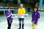 The staff of the Aquadome in Tralee launch the reopening on the centre. L to r: Tanya O'Connor, Kieran Rutledge and Tara Moran