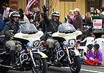 Carson City Sheriff's Deputies Joey Trotter, left, and Wayne Wheeler ride in the annual Nevada Day parade in Carson City, Nev. on Saturday, Oct. 29, 2016. <br />Photo by Cathleen Allison