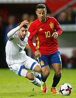 Spain's Thiago Alcantara (r) and Israel's Almog Cohen during FIFA World Cup 2018 Qualifying Round match. March 24,2017.(ALTERPHOTOS/Acero) /NortePhoto.com