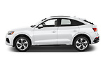 Car Driver side profile view of a 2021 Audi Q5-Sportback Premium 5 Door SUV Side View