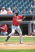 Erie SeaWolves outfielder Josh Lester (17) at bat on June 27, 2021 against the Akron RubberDucks at Canal Park in Akron, Ohio. (Andrew Woolley/Four Seam Images)