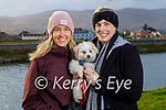 Enjoying a stroll and a coffee on Saturday morning in Blennerville. L to r: Aisling Switzer and Niamh Savage and Baxter the dog.