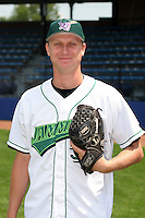 Jamestown Jammers Ross Liersemann poses for a photo before a NY-Penn League game at Russell Diethrick Park on July 1, 2006 in Jamestown, New York.  (Mike Janes/Four Seam Images)