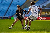 22nd November 2020; Ricoh Arena, Coventry, West Midlands, England; English Premiership Rugby, Wasps versus Bristol Bears; Jacob Umaga of Wasps tries to throw a dummy and step the other way