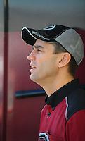 Oct. 16, 2011; Chandler, AZ, USA; NHRA top fuel dragster driver Larry Dixon during the Arizona Nationals at Firebird International Raceway. Mandatory Credit: Mark J. Rebilas-
