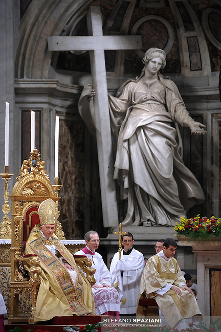 Pope Benedict XVI leads a consistory at St Peter's basilica on November 20, 2010 at The Vatican. 24 Roman Catholic prelates will join today the Vatican's College of Cardinals, the elite body that advises the pontiff and elects his successor upon his death.