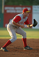July 25, 2005:  Third baseman Josh Petersen of the Brooklyn Cyclones during a game at Dwyer Stadium in Batavia, NY.  Brooklyn is the NY-Penn League Class-A affiliate of the New York Mets.  Photo by:  Mike Janes/Four Seam Images