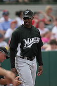 Bo Porter of the Florida Marlins vs. the Houston Astros March 15th, 2007 at Osceola County Stadium in Kissimmee, FL during Spring Training action.  Photo copyright Mike Janes Photography 2007.