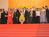 "FRA: ""THE BFG"" Red Carpet- The 69th Annual Cannes Film Festival - Steven Spielberg, Ruby Barnhill, Mark Rylance, Claire van Kampen, Lucy Dahl, Penelope Wilton Rebecca Hall attend ""THE BFG"". Red Carpet during The 69th Annual Cannes Film Festival on May 14, 2016 in Cannes, France."