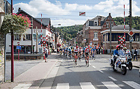 a railroad crossing that closed & opened JUST in between the breakaway group & the peloton (who were riding 4 minutes behind)<br /> <br /> 60th Grand Prix de Wallonie 2019<br /> 1 day race from Blegny to Citadelle de Namur (BEL / 206km)<br /> <br /> ©kramon