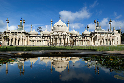 Great Britain, England, East Sussex, Brighton: Royal Pavilion built in the early 19th Century as a seaside retreat for the then Prince Regent, the future King George 4th
