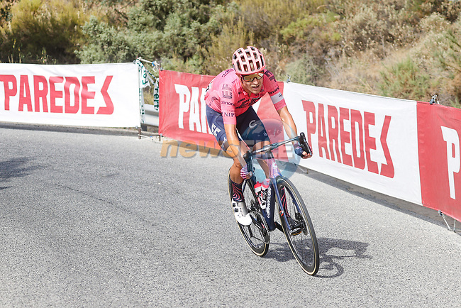 Magnus Cort Nielsen (Den) EF Education-Nippo attacks on the Puerto de Locubín climb during Stage 11 of La Vuelta d'Espana 2021, running 133.6km from Antequera to Valdepeñas de Jaén, Spain. 25th August 2021.     <br /> Picture: Luis Angel Gomez/Photogomezsport | Cyclefile<br /> <br /> All photos usage must carry mandatory copyright credit (© Cyclefile | Luis Angel Gomez/Photogomezsport)