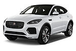 2021 Jaguar E-Pace R-Dynamic-HSE 5 Door SUV Angular Front automotive stock photos of front three quarter view