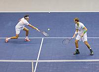 05-03-11, Tennis, Oekraine, Kharkov, Daviscup, Oekraine - Netherlands, Thiemo de Bakker/Robin Haase