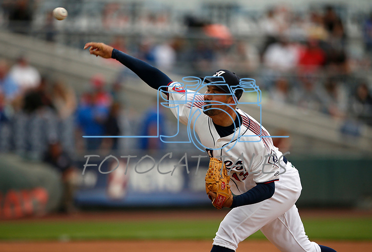 Reno Aces' Zach Lee pitches against the Tacoma Rainiers, in Reno, Nev., on Friday, May 28, 2021. <br /> Photo by Cathleen Allison
