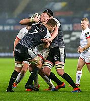 Saturday 15th February 2020 | Ospreys vs Ulster Rugby<br /> <br /> Kieran Traedwell in action during the PRO14 Round 11 clash between the Ospreys and Ulster Rugby at the Liberty Stadium, Swansea, Wales. Photo by John Dickson/DICKSONDIGITAL