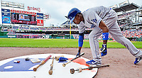 5 September 2011: Los Angeles Dodgers infielder Dee Gordon in action against the Washington Nationals at Nationals Park in Los Angeles, District of Columbia. The Nationals defeated the Dodgers 7-2 in the first game of their 4-game series. Mandatory Credit: Ed Wolfstein Photo
