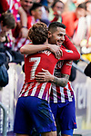 Antoine Griezmann of Atletico de Madrid celebrates scoring team's second goal with teammate Victor Machin, Vitolo, during the La Liga 2018-19 match between Atletico de Madrid and Deportivo Alaves at Wanda Metropolitano on December 08 2018 in Madrid, Spain. Photo by Diego Souto / Power Sport Images