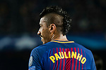 Jose Paulo Bezerra Maciel Junior, Paulinho, of FC Barcelona reacts during the UEFA Champions League 2017-18 Round of 16 (2nd leg) match between FC Barcelona and Chelsea FC at Camp Nou on 14 March 2018 in Barcelona, Spain. Photo by Vicens Gimenez / Power Sport Images