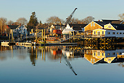 Portsmouth Harbor in Portsmouth, New Hampshire USA from Pierce Island.