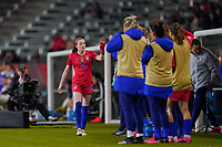 CARSON, CA - FEBRUARY 7: Rose Lavelle #16 of the United States after being subbed out during a game between Mexico and USWNT at Dignity Health Sports Park on February 7, 2020 in Carson, California.