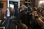 © Joel Goodman - 07973 332324 . 05/05/2017 . Manchester , UK . ANDY BURNHAM takes to the stage at the declaration . The count for council and Metro Mayor elections in Greater Manchester at the Manchester Central Convention Centre . Photo credit : Joel Goodman