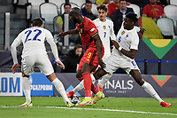 Romelu Lukaku of Belgium, Theo Hernandez of France and Paul Pogba of France during the Uefa Nations League semi-final football match between Belgium and France at Juventus stadium in Torino (Italy), October 7th, 2021. Photo Andrea Staccioli / Insidefoto