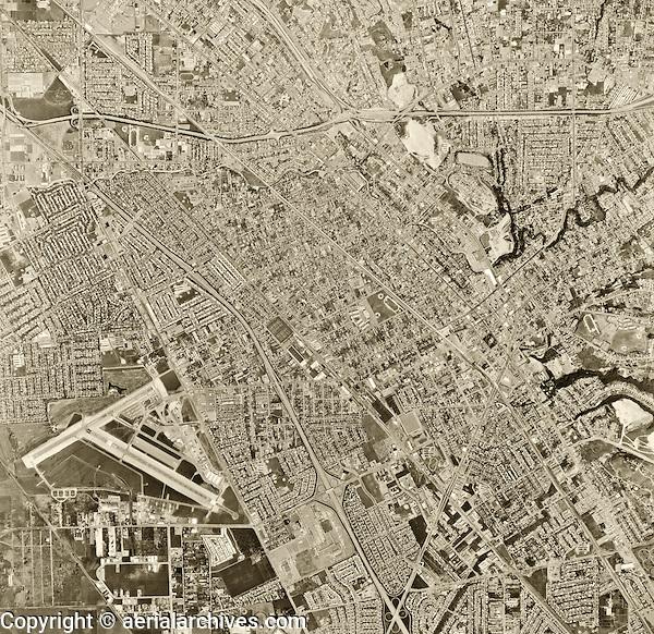 historical aerial photograph Hayward, Alameda county, 1968