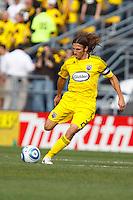 24 OCTOBER 2010: Columbus Crew defender Frankie Hejduk (2) during MLS soccer game Columbus Crew defender Frankie Hejduk (2) against the Philadelphia Union at Crew Stadium in Columbus, Ohio on August 28, 2010.