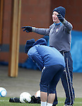 Ally McCoist celebrates his showboating as Ian Black cringes with embarrasment