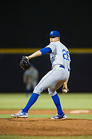 AZL Royals relief pitcher Daniel Garmendia (26) delivers a pitch to the plate against the AZL Mariners on July 29, 2017 at Peoria Stadium in Peoria, Arizona. AZL Royals defeated the AZL Mariners 11-4. (Zachary Lucy/Four Seam Images)