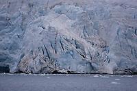 Calving Glacier in Isfjorden on Spitzbergen Arctic norway