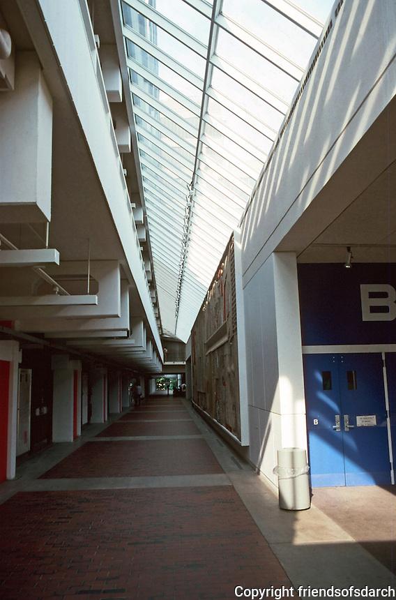 Cambridge:  Science Center, Harvard.  Interior.  Photo '88.