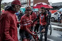 Mads Pedersen (DEN/Trek Segafredo) happy after winning the sprint in a select group. <br /> <br /> 78th Euro Metropole Tour 2018<br /> La Louvière – Tournai (BEL): 206km